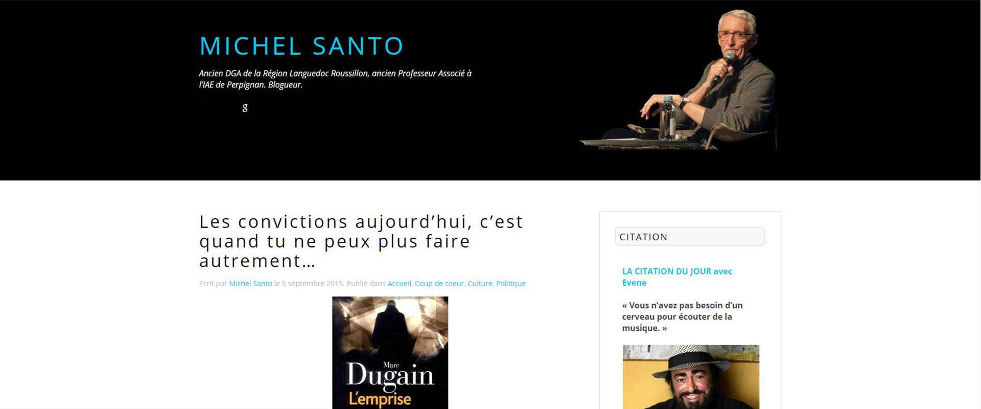 Le blog de Michel Santo